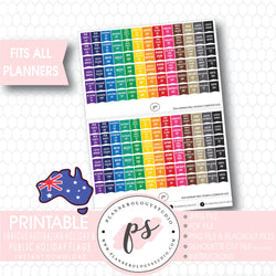 Australian Public Holidays & Celebrations Rainbow Flags Digital Printable Planner Stickers - Plannerologystudio