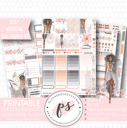 Fashionista in Spring Full Weekly Kit Printable Planner Stickers (for use with ECLP Vertical) - Plannerologystudio