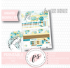 "Mint Undated Monthly View Kit Digital Printable Planner Stickers (for Standard A5 Wide Monthly 1.6"" Width Date Boxes)"