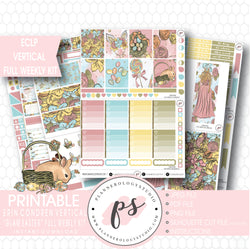 Glam Easter Full Weekly Kit Printable Planner Stickers (for use with ECLP Vertical) - Plannerologystudio