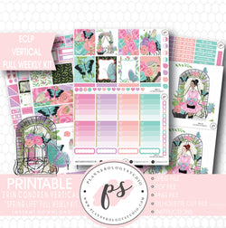 Spring Life Full Weekly Kit Printable Planner Stickers (for use with ECLP Vertical) - Plannerologystudio