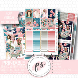 Sweet Spring Full Weekly Kit Printable Planner Stickers (for use with ECLP Vertical) - Plannerologystudio