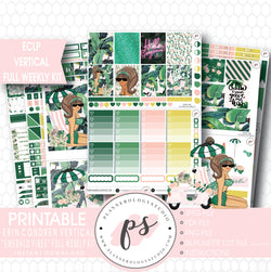Emerald Vibes Full Weekly Kit Printable Planner Stickers (for use with Erin Condren ECLP Vertical) - Plannerologystudio