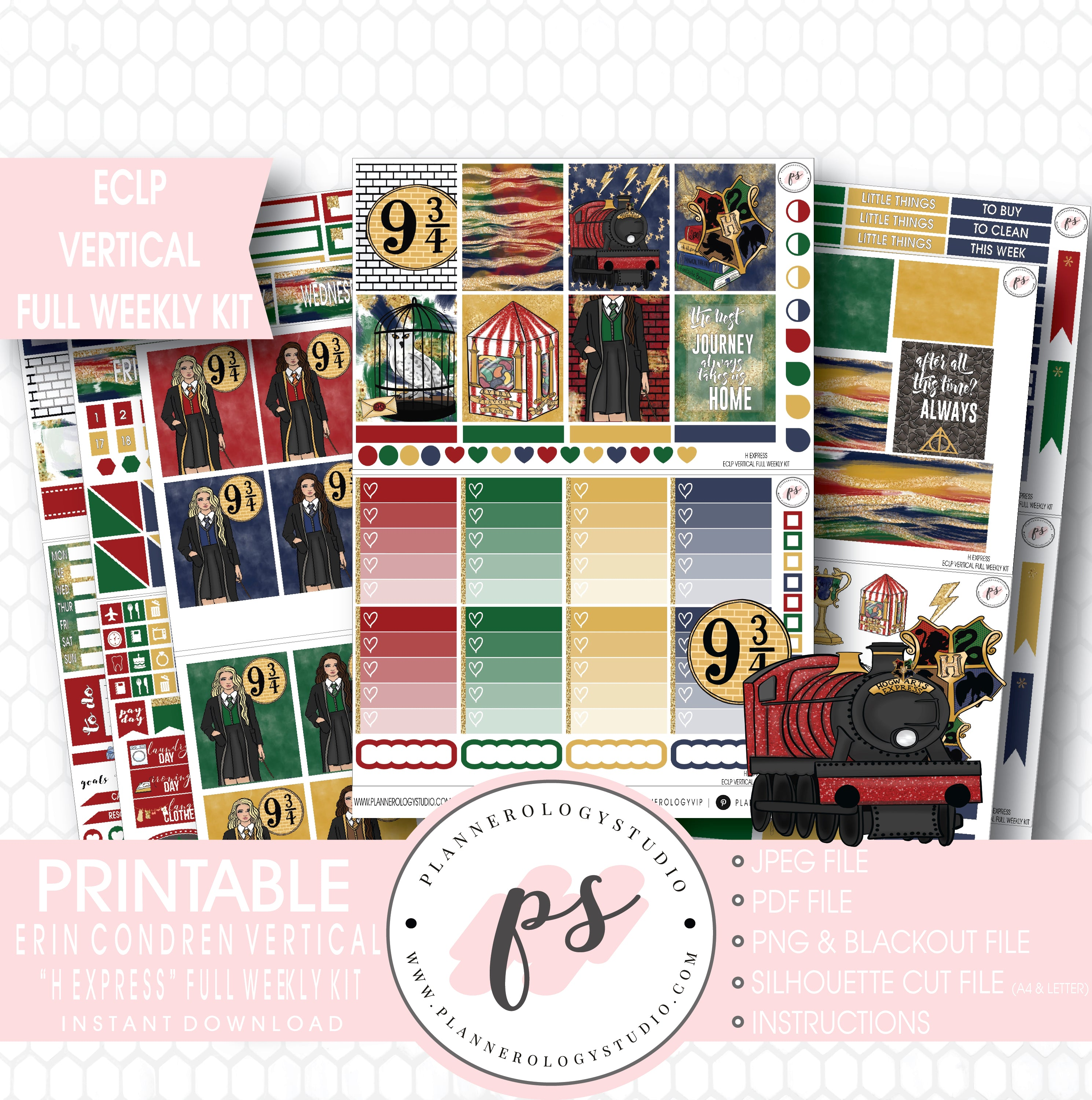 Standard VERTICAL PLANNER Stickers Classic Deluxe kit