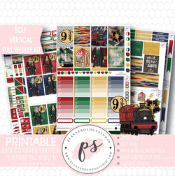 H Express (Harry Potter) Full Weekly Kit Printable Planner Stickers (for use with ECLP Vertical) - Plannerologystudio