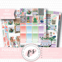 Festival Vibes Full Weekly Kit Printable Planner Stickers (for use with ECLP Vertical) - Plannerologystudio