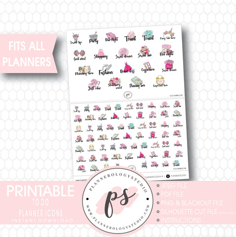 To Do Planner Icons Digital Printable Planner Stickers - Plannerologystudio