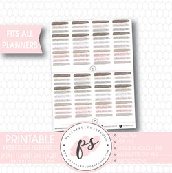 Sydney Planner Day Watercolour Brushstroke Headers Digital Printable Planner Stickers - Plannerologystudio