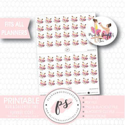 Mum Mom & Daughter Time Planner Icons Digital Printable Planner Stickers - Plannerologystudio