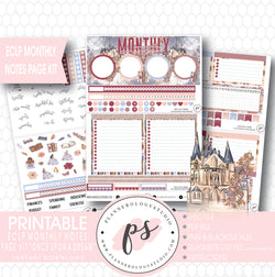 Once Upon a Dream Monthly Notes Page Kit Digital Printable Planner Stickers (for use with Erin Condren) - Plannerologystudio