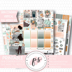Give Thanks Thanksgiving Full Weekly Kit Printable Planner Digital Stickers (for use with Erin Condren Vertical) - Plannerologystudio