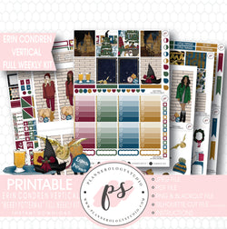 Merry Pottermas (Harry Potter) Christmas Full Weekly Kit Printable Planner Digital Stickers (for use with Erin Condren Vertical) - Plannerologystudio