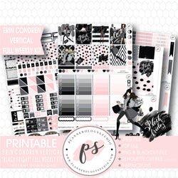 Black Friday Full Weekly Kit Printable Planner Digital Stickers (for use with Erin Condren Vertical) - Plannerologystudio