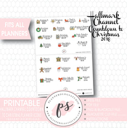 Hallmark Channel Countdown to Christmas 2018 Planner Icons Digital Printable Planner Stickers - Plannerologystudio