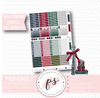 Holly Christmas Full Weekly Kit Printable Planner Stickers (for use with Erin Condren Vertical) - Plannerologystudio