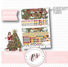 Mistletoe Christmas December 2018 Monthly View Kit Digital Printable Planner Stickers (for use with Classic Happy Planner) - Plannerologystudio