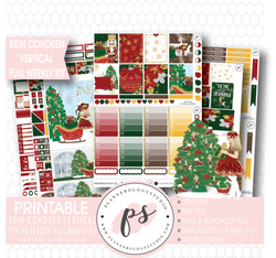 'Tis the Season Christmas Full Weekly Kit Printable Planner Stickers (for use with Erin Condren Vertical) - Plannerologystudio