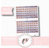 Magic Glitter Pattern Bow Icon Washi Strip Digital Printable Planner Stickers - Plannerologystudio