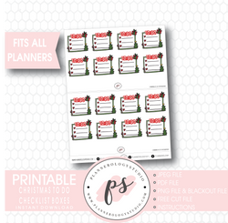 Christmas To Do Checklist Box Digital Printable Planner Stickers - Plannerologystudio