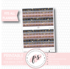 Starry Nights Watercolour Pattern Bow Icon Washi Strip Digital Printable Planner Stickers - Plannerologystudio