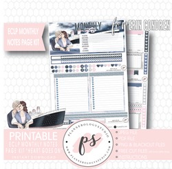 Heart Goes On (Titanic) Monthly Notes Page Kit Digital Printable Planner Stickers (for use with Erin Condren) - Plannerologystudio
