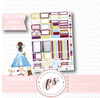 Belle (Beauty & the Beast) Full Weekly Kit Printable Planner Stickers (for use with Erin Condren Vertical) - Plannerologystudio