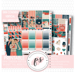 Bridget (Bridget Jones's Diary) Full Weekly Kit Printable Planner Stickers (for use with Erin Condren Vertical) - Plannerologystudio