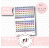 Sugar & Spice Watercolour Pattern Bow Icon Washi Strip Digital Printable Planner Stickers (Foil Ready) - Plannerologystudio