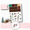 Woodland Winter Full Weekly Kit Printable Planner Stickers (for use with Erin Condren Vertical)