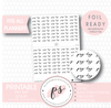 Pay Day Script Digital Printable Planner Stickers (Foil Ready) - Plannerologystudio