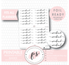 Weekend Script Banner Digital Printable Planner Stickers (Foil Ready)