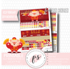 Lucky Pig (Chinese/Lunar New Year) February 2019 Monthly View Kit Digital Printable Planner Stickers (for use with Erin Condren) - Plannerologystudio