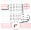Netflix Binge Script Digital Printable Planner Stickers (Foil Ready)