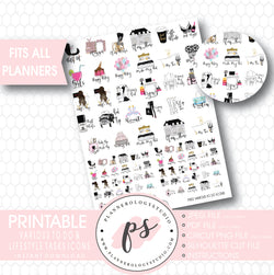 Various To Do & Lifestyle Tasks Icons Printable Planner Stickers - Plannerologystudio