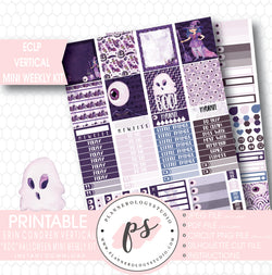 """Boo"" Halloween Mini Weekly Kit Printable Planner Stickers (for use with ECLP Vertical) - Plannerologystudio"