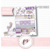 Lavender March 2019 Monthly View Kit Digital Printable Planner Stickers (for use with Erin Condren) - Plannerologystudio