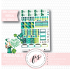 Shamrock Luck (St Patrick's Day) Full Weekly Kit Printable Planner Stickers (for use with Erin Condren Vertical)