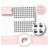 Bow Clip Icon Digital Printable Planner Stickers (Foil Ready) - Plannerologystudio