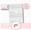 Weather Icon Digital Printable Hobonichi Weeks Planner Stickers (Foil Ready)