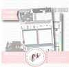 Moonlight Bunnies Easter Monthly Notes Page Kit Digital Printable Planner Stickers (for use with Erin Condren)