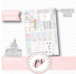 Magic (Disney Inspired) Full Weekly Kit Printable Planner Stickers (for use with Hobonichi Weeks) - Plannerologystudio