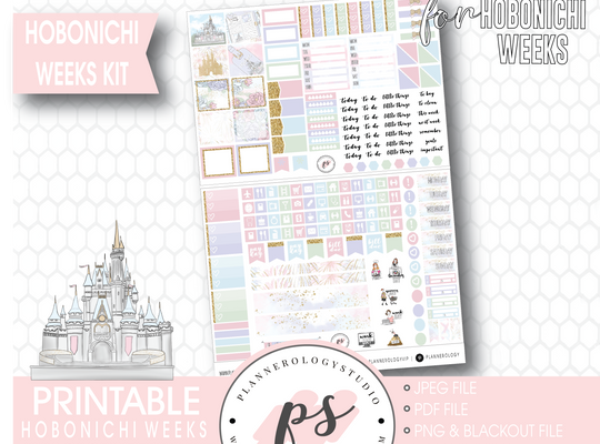 Magic (Disney Inspired) Full Weekly Kit Printable Planner Stickers (for use with Hobonichi Weeks)