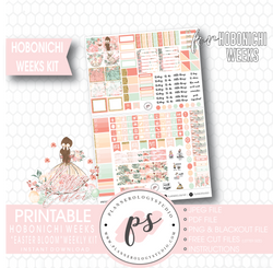 Easter Bloom Weekly Kit Printable Digital Planner Stickers (for use with Hobonichi Weeks) - Plannerologystudio