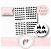 Various Disney Castle Inspired Icon Digital Printable Hobonichi Weeks Planner Stickers (Foil Ready)