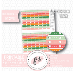 Hobonichi Weeks Spring Colours Date Cover Strips Digital Printable Planner Stickers - Plannerologystudio