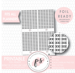 Decorative Bow Tie Icon Digital Printable Planner Stickers (Foil Ready) - Plannerologystudio