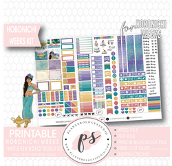 Whole New World (Aladdin) Weekly Kit Printable Digital Planner Stickers (for use with Hobonichi Weeks)