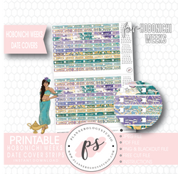 Hobonichi Weeks Whole New World (Aladdin Inspired) Date Cover Strips Digital Printable Planner Stickers - Plannerologystudio