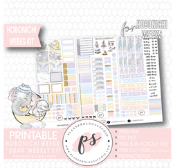 Soar (Dumbo) Weekly Kit Printable Digital Planner Stickers (for use with Hobonichi Weeks) - Plannerologystudio