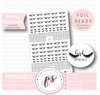 Various Lash Appointment Icon Digital Printable Planner Stickers (Foil Ready)
